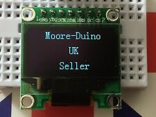 "White SPI 128X64 OLED LCD LED Display Module For Arduino 0.96"" Serial UK New"