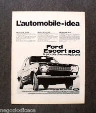 N599 - Advertising Pubblicità - 1968 - FORD ESCORT 1100
