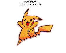 PIKACHU POKEMON GO EMBROIDERY IRON ON PATCH BADGE