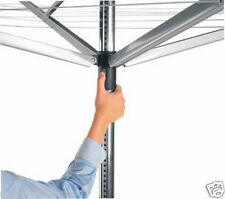 Brabantia Lift-O-Matic Large Rotary Airer Washing Line with Metal Soil Spear 60m