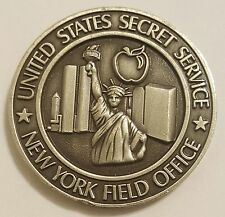 United States Secret Service Antique Silver New York Field Office 1.75""