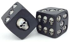 "2 Oversize Novelty Skull Dice 1.5"" Large Collectible Decoration Skeleton Die"