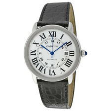 Cartier Ronde Solo Silver Dial Mechanical Mens Watch W6701010