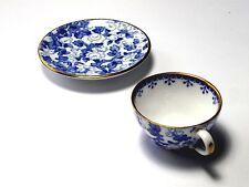 Vintage SPODE COPELAND'S  Mini Blue Chintz Tea Cup & Saucer Set - Mint