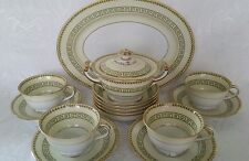Noritake Fine China Musetta 3702 Partial Tea Set Greek Key Japan 15 Pieces