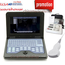 10.1 inch LCD Notebook Diagnostic Ultrasound Scanner Convex/Abdominal probe USA