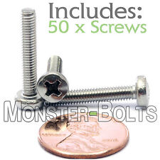 M3.5 x 20mm - Qty 50 - Stainless Steel Phillips Pan Head Mach. Screws DIN 7985 A