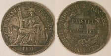 Indochine Française, Piastre argent 1907 A, TTB !!