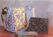 ~ FUN NEW TOTE PATTERN ~ USE PRE QUILTED FABRIC W/ BORDERS ~ 2F PROJECTS ~