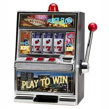 "12.5"" Large Slot Machine Las Vegas Style Casino Bank With Winning Light New"