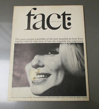 1965 FACT Magazine #3 Marilyn Monroe VG+ Photographic Essay in Eros Bert Stern
