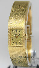 Omega Vintage 14k Yellow Gold Bracelet Manual Wind 14mm Ladies Watch