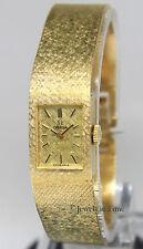 Omega Vintage 14k Yellow Gold Bracelet Manual Wind 14mm Ladies Watch