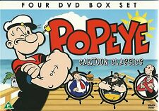 POPEYE THE SAILOR MAN (KIDS) CARTOON CLASSICS 4 DVD BOX SET TAXI TURVY & MORE