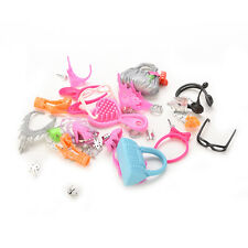Gift Pack Doll Accessories Jewellery Bag for Barbie Necklace Combs Shoes HUCA