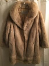 Soft VINTAGE Real MINK Shiny FEMALE Bolero BLOND Wrap FUR Coat JACKET S M