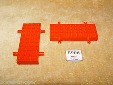 LEGO Parts: 30076 Brick, Modified 4 x 10 with 4 Pins X2 RED VEHICLE BASE