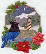 Embroidered Sweatshirt - Stellar's Jay and Lighthouse F6246C Sizes S - XXL