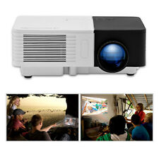 UK LCD LED Mini Projector Portable Gift Multimedia Home Cinema AV HDMI USB VGA