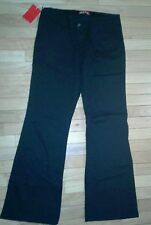 JUNIOR GIRLS BLACK FLEECE LINED STRETCHABLE BOOTCUT LOW RISE JEANS-SIZE-00
