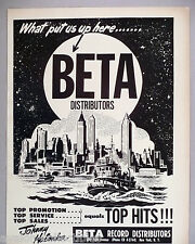 Beta Record Distributors PRINT AD - 1965 ~~ Johnny Halonka
