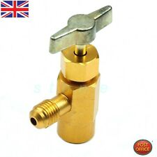 "R-134a R-134 AC Refrigerant Brass Tap Can Dispensing 1/2"" ACME Thread Valve Tool"