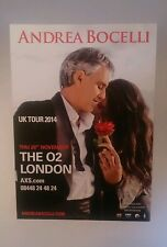 Andrea Bocelli Collectors Postcard Photo From the O2 London Concert 2014