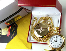 Parachute Regiment Gold Pocket Watch Paras Paratrooper British Army Gift Box