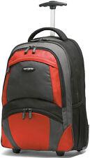 """Samsonite 19"""" Wheeled Backpack Laptop Carry On Luggage - Black / Orange"""