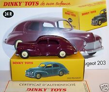 RARE DINKY TOYS ATLAS PEUGEOT 203 ROUGE GRENAT REF 24R 1/43 IN BOX