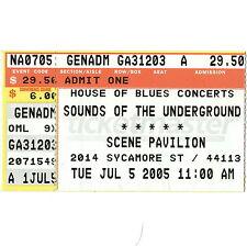 LAMB OF GOD & OPETH Concert Ticket Stub CLEVELAND OHIO 7/5/05 SCENE PAVILION