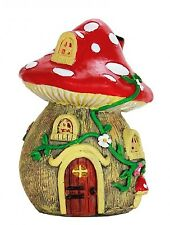 MUSHROOM HOUSE statue 5-inch Resin Fairy Garden Miniature Dollhouse