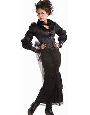 Steampunk Victorian Lady Gothic Vampire Fancy Dress Womens Halloween Costume STD