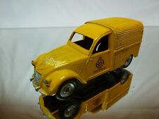 DINKY TOYS 25D CITROEN 2CV FOURGONNETTE ANWB - YELLOW 1:43 - GOOD CONDITION