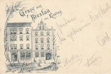 Ak Gruß aus Breslau von Kissling Wroclaw Litho Polen Schlesien Slask 1896