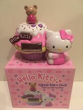 Hello Kitty Cupcake Digital Clock RARE Collectable Toy