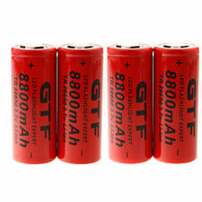4x GTF 26650 8800mAh 3.7V Li-ion Rechargeable Battery For LED Flashlight Torch