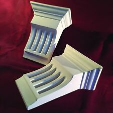 Corbels Fluted Small - Fine Plaster. X2 (Pair) Handmade. Height 175mm