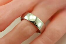 935 Argentium Sterling Silver polished 7mm wedding band ring man's size 11 NEW