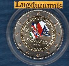 2 Euro Commémo Couleur Color - Slovaquie 2011 Groupe Vizegrad TI