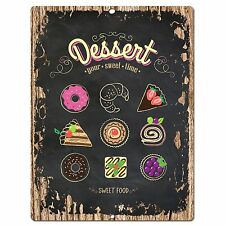 PP0566 Dessert Plate Chic Sign Store Shop Cafe Home Kitchen Decor Gift Ideas