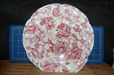 Chippendale Dinner & Luncheon Plates - Red /Pink Flower - Johnson Bros