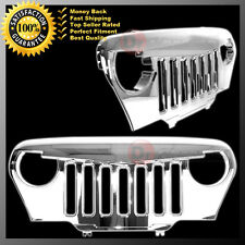 97-06 Jeep Wrangler TJ Triple Chrome Angry Bird Overlay Packaged Grille Shell
