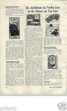 1955 PAPER AD Article Tonka Truck Line Toy Aerial Loader Builders Supply Fleet