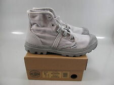PALLADIUM Womens PALLABROUSE High Top Lace Up Canvas Sneaker Gray  US 8.5