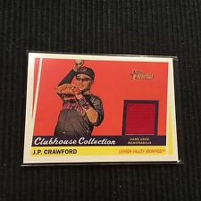 2016 TOPPS HERITAGE MINOR LEAGUE J P CRAWFORD *GAME USED JERSEY*  IRONPIGS