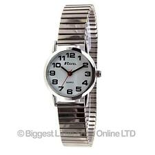 NEW Ravel Ladies Expandable Strap Watch BOLD EASY READ Numbers Gift White Face