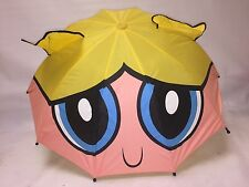 "PowerPuff Girls - GIANT Bubbles Face  26"" Umbrella w BUBBLES HANDLE"
