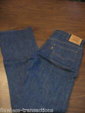 LEVI JEANS VINTAGE 517 Orange Tab Bootcut Denim Blue Jeans Levis 34 x 34 NEW