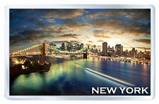 NEW YORK SUNSET FRIDGE MAGNET SOUVENIR IMAN NEVERA